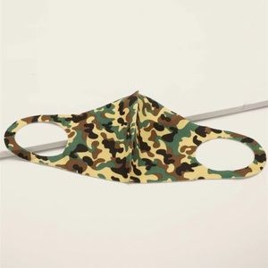 LAST 2! Black & Green Camouflage Face Mask